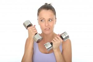 bored lifting weights